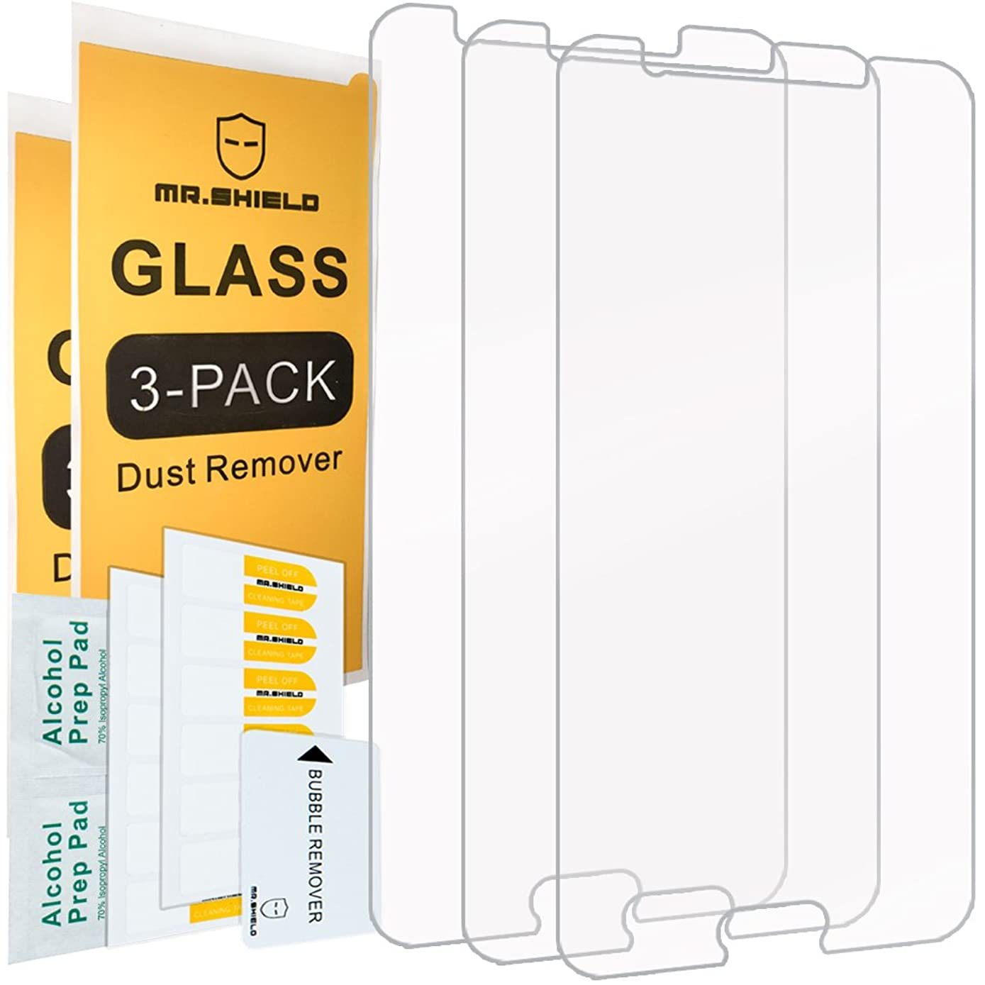[3-Pack]-Mr.Shield for Samsung?Galaxy?J7?Sky?Pro [Tempered Glass] Screen Protector with Lifetime Replacement
