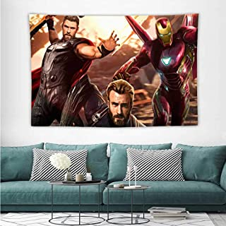 Christmas Tapestry Avengers Infinity War Captain America Ironman Thor W5 Tapestry Wallpaper Home Decor W39 x L39 inch