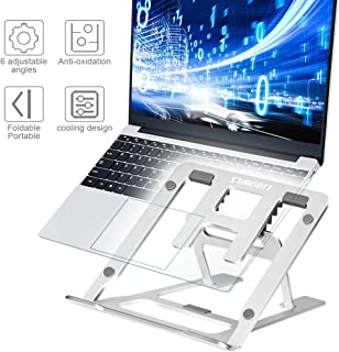 """sumgott Soporte Portátil, Aluminio Ventilado Soporte Ordenador Portátil Plegable, Ergonomic Adjustable Laptop Stand, Ligero Soporte Mesa para Macbook DELL XPS, HP, PC y Otros 9-15.6"""" Portatiles"""