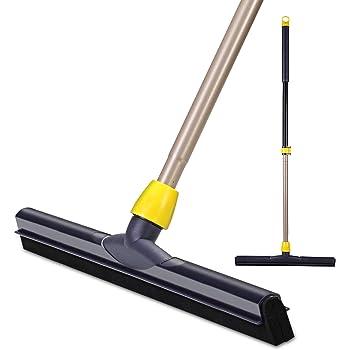 Cleanhome ドライワイパー スクイジー 水切りワイパー ガラスワイパー フロアスクイジー 窓/壁/鏡/地面/天井の水気を掃除できる 発泡ゴム ネイビーブルー