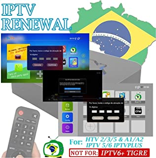 IPTV Brazil TV Box Renew Code, Activation Code for A1/A2/ HTV1 3 4 5 IPTV 5 6 6 Plus 6+/ King 5/6,Subscription 16-Digit Renew Code,One Year,TV Box Brazil Code, for 400 Days