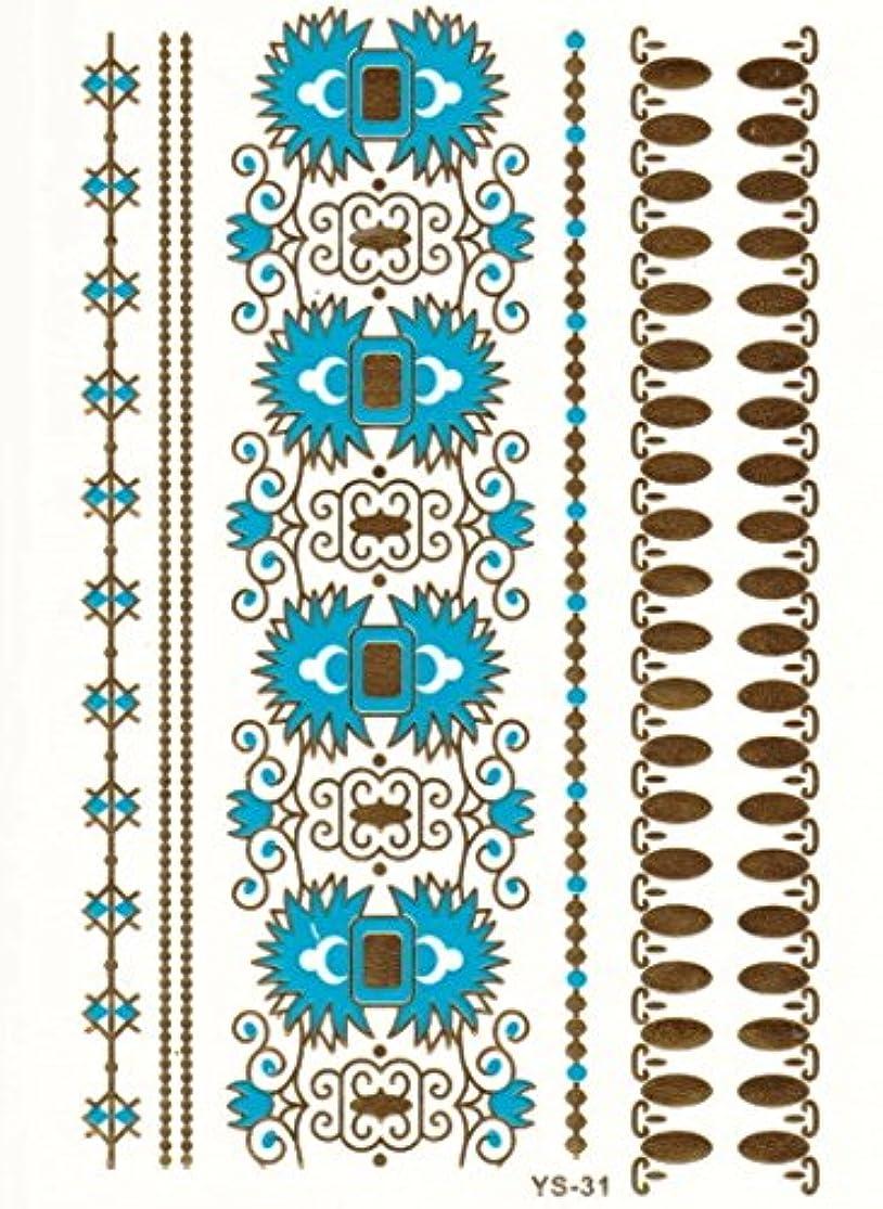 スクリュー奇跡的な忠実メタリックタトゥー FLASH TATTOOS タトゥーシール 16
