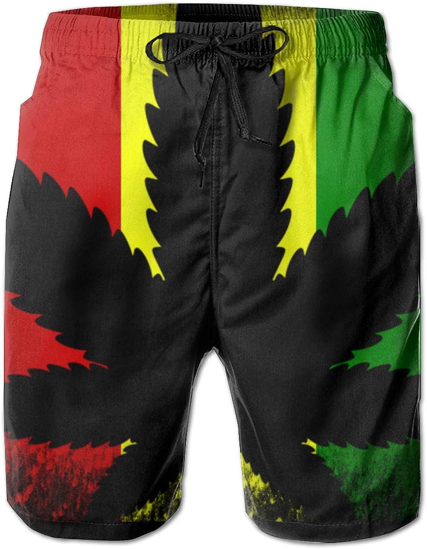 e9e8c74428 Linxher Rasta Flag Rastra Weed Cannabis Men's Swim Trunks Quick Quick Quick  Dry Summer Bathing Suit Beach Shorts 189109