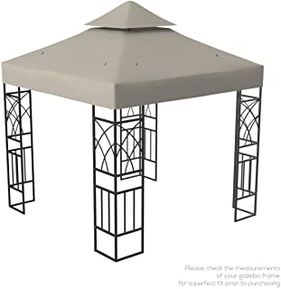 comprar comparacion Kenley Techo de Reemplazo para Carpa Estructura Gazebo Pabellón de Jardín - 3x3m - Beige