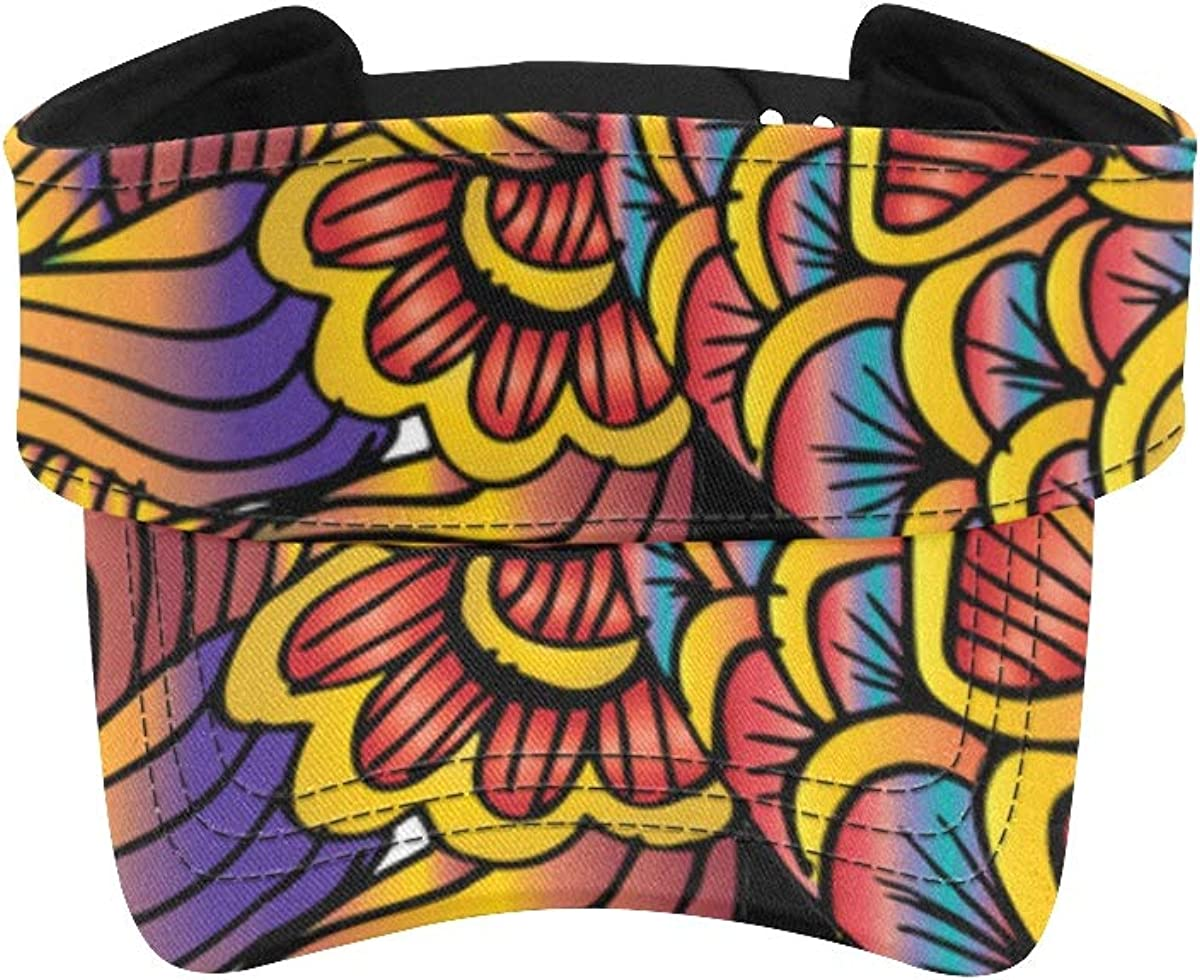 Women Visor Hats for Running Beautiful Yellow R Sale special price Hat Max 63% OFF Fish Red