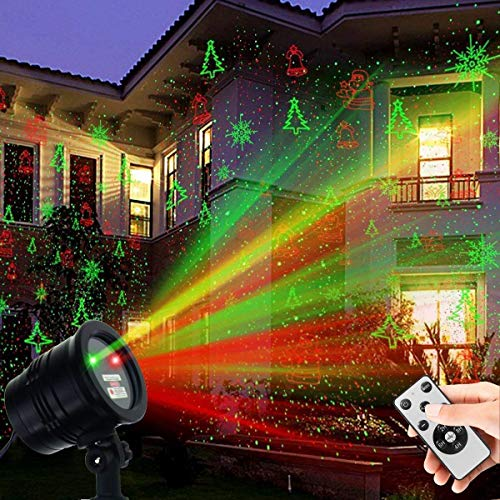 Christmas Laser Lights | Decorative Outdoor Projector Lights Holidays | Landscape Spotlight Star Show | Waterproof Laser Light Projector Decorative Lights for Outdoor Xmas Holiday Party