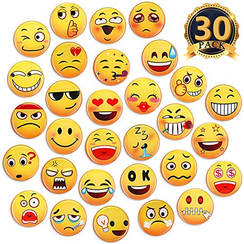 MORCART Emoji Magnete für Kühlschrank Dekorative Magnete Schulschränke Büro Kabine Magnettafel Küche Klassenzimmer Whiteboard Lustige Süße Magnete Geschenke für Erwachsene Kinder