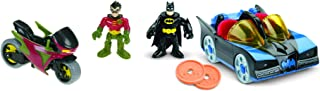 Fisher-Price Imaginext DC Super Friends, Batmobile & Cycle, What's the coolest way for kids to cruise around Gotham City