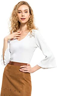 Best lace sleeve sweater Reviews