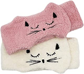 Amamcy 2 Packs Cat Hair Band Makeup Headbands Shower Headbands for Washing Face Shower Spa Bath with Magic Tape