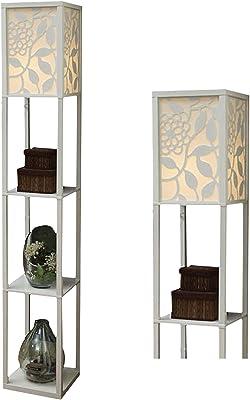 Éclairage d'intérieur en bois pour chambre à coucher et salon (Blanc)
