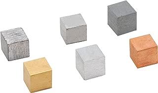 Density Cubes, Set of 6 Metals, 0.8