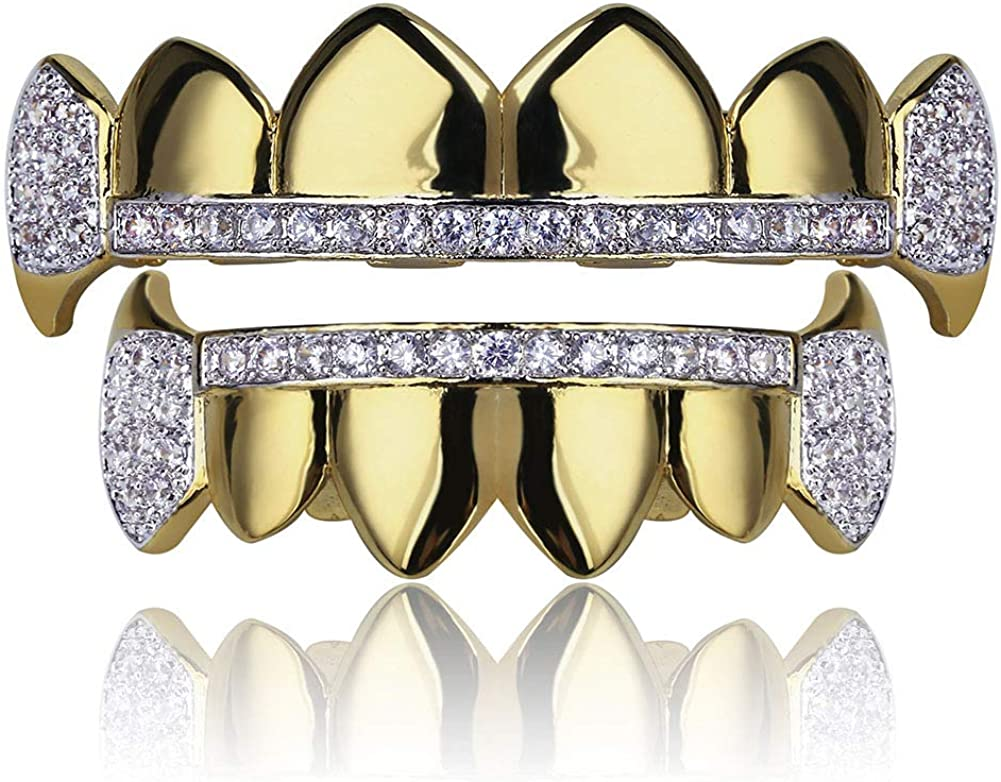 Moca Jewelry Hip Hop Unisex 18K Save money Large discharge sale Iced Out Simulate Gold Plated CZ