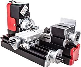 chuangsheng Mini Lathe Machine,12V Miniature Metal Multifunction Lathe Machine DIY..