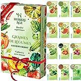 Cultivez votre propre potager –12 variétés de graines de légumes, 5100 graines prêtes à être cultivées – Kit de plantation de légumes pour Femmes, Enfants, Débutants, cadeaux de jardinage