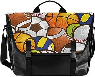 Bolsa de lona para cartero de baloncesto de voleibol, unisex, de 15,6 pulgadas, estilo retro, para negocios, bolso de homb...