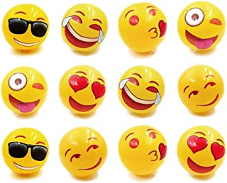 Emoji Universe Inflatable Beach Ball - Pool Party Favor and Beach Toys - Competitive Sports and Fun - Indoor & Outdoor, 12 Inches, Set of 12