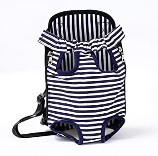 WYYZSS Mochila para Mascotas, Legs out Front-Front Dog Carrier Backpack, Manos Libres Ajustable Pet Dog Backpack para Caminar Senderismo (Correas Anchas con hombreras)
