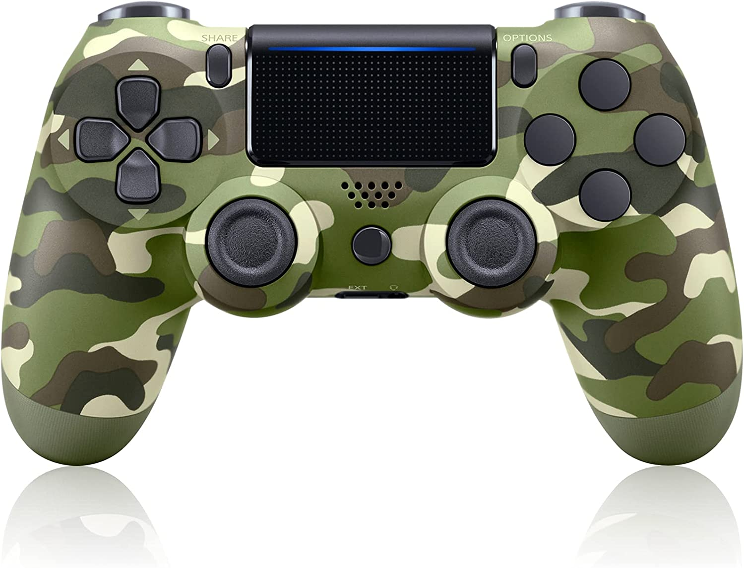 PYMENA Compatible with PS4 Controller Wireless Compatible with Playstation 4/Slim/Pro Console, Game Remote Controller with Dual Vibration - Green Camo