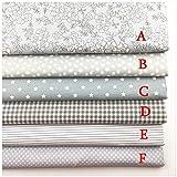 VOWAN 1 pcs Tejido de algodón Estampado Floral DIY Tejido Patchwork Costura Bebé Juguete Ropa...