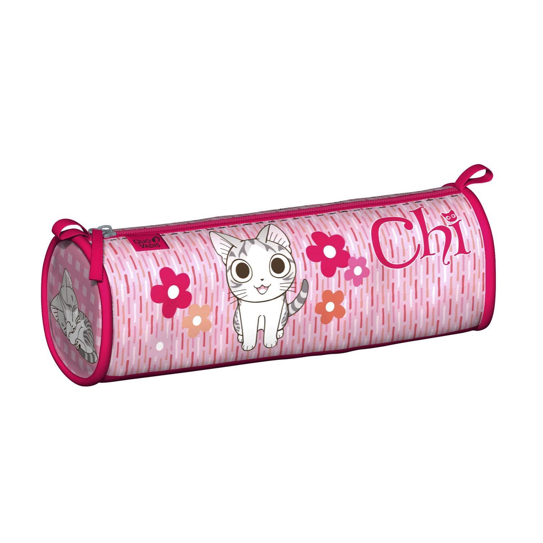 Quo Vadis Chi - Estuche redondo (8 x 23 x 8 cm), color rosa: Amazon.es: Oficina y papelería