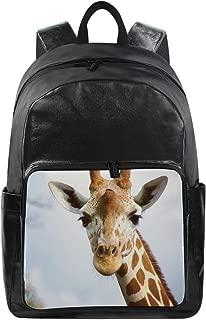 Cute Deer Animal Simple Backpack School Bags Casual Stylish Outdoor Sports Large Capacity Casual Travel Rucksack Student College Bookbag for Men Women Teenagers Black