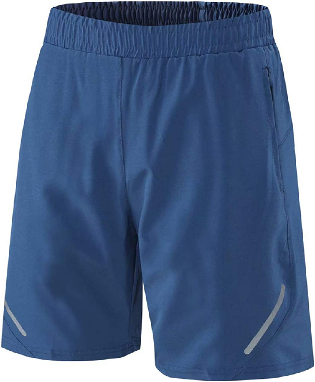 Wantess Men's Shorts Summer Fashion Solid Color Leisure Comfortable Drawstring Elastic