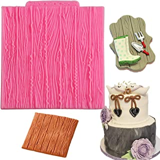 Palker Sky Fondant Impression Mat, Tree Bark texture Design- Silicone-Cake Decorating Supplies for Cupcake Wedding Cake Decoration by