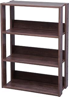 Marca Amazon - Iris Ohyama OWR-600 - Estante abierto de madera con 3 compartimientosarmario 3 estantes madera marrón (r...