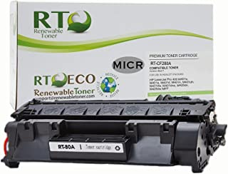 Renewable Toner Compatible MICR Toner Cartridge Replacement HP 80A CF280A for use in HP LaserJet Pro 400 M401 M425