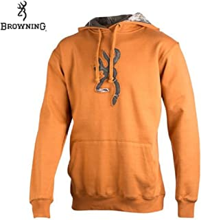 Browning Buckmark Camo Hoodie (L)- Cathay Spice/RTAP
