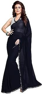 Mirchi Fashion Women's Plastic Mirror Border Indian Saree Unstitched Blouse Piece