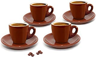 Cuisinox CUP-466BR Brown Espresso Cups,Set of 4