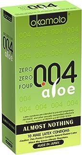 Okamoto Usa 004 Aloe Almost Nothing Condom, 10 Count