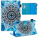 LMFULM® Hülle für Huawei MediaPad M5 (8,4 Zoll) PU Lederhülle Smart Hülle Cover Ständer Schutzhülle Flip Cover Mandala-Blume