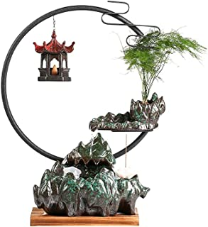 ZLBYB Creative Flowing Water Backflow Fragrant Lucky Decoration Living Room Home Furnishing Store Desktop Decoration