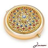 Jinvun Luxus Taschenspiegel – Einzigartiges Geschenk für Frauen | 24K Gold...