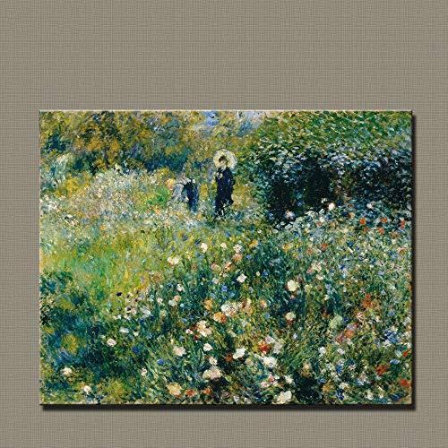 50x62cm Sin Marco Impresión en Lienzo Arte Moderno impresionismo decoración decoración Lienzo Pintura Renoir Mujeres jardín Vida con sombrilla