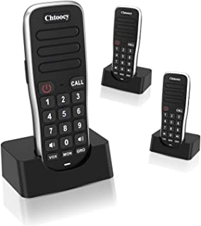 Handheld Intercoms Wireless for Home 1 Mile Range 10 Channel, Chtoocy Rechargeable Wireless Intercom System for Home Busin...