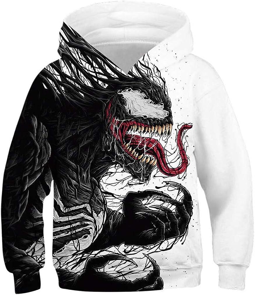 IYOWEL 3D Printing Hoodies Boys Girls Sweatshirts Long Sleeve Sweater