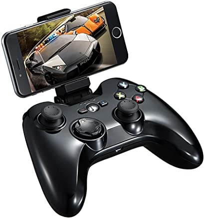 MFi Certified Wireless Game Controller, PXN 6603 Bluetooth Gamepad, YF2009 Gaming Controller Joypad with Adjustable Clamp Holder Compatible with iOS iPhone/iPad/iPod