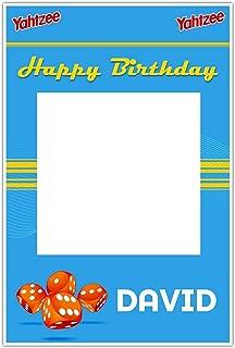 Yahtzee Birthday Selfie Frame Poster