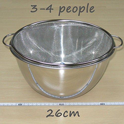 『ナガオ 燕三条 深型ボウル ザル セット スタンダード 外径23cm 18-8ステンレス 日本製』のトップ画像
