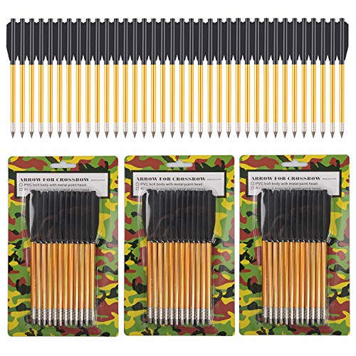 ONE250 Arrows Bolts for Pistol Crossbow 50-80 Lb Pounds - 36 Pack (Aluminum)