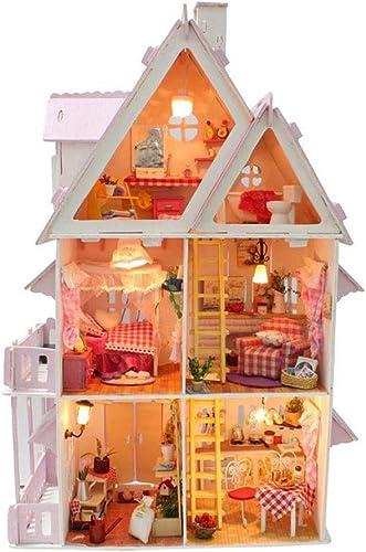 Evav Puppenhaus Miniatur DIY Haus Kit - Mini Holz Modellbau Spielzeug Freunde, Liebhaber und Familien (Sunshine Alice)
