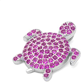 ruby turtle necklace