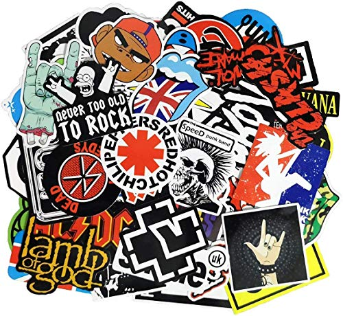 Kiozi Waterproof Graffiti Stickers (100pcs) for Guitar, Laptops, Water Bottles, Cars, Travel Case, Skateboard, Luggage, Vintage Vinyl Sticker and Decals Pack