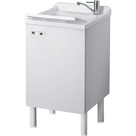 Negrari 6006skbba Meuble avec lavabo en nobilitato idrofugo, mesures L 45x P 50x H 84cm, blanc