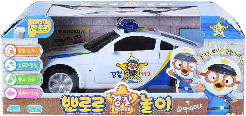 Pgoldro Police Play White light Melody Korea TV Animation mini car Toy