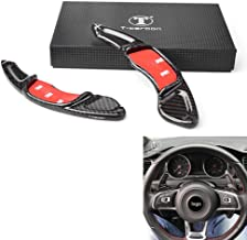 GZYF Black Carbon Fiber Auto Steering Wheel Paddle Shift Extension Replacement Fits VW Golf7 GTI Scirocco 2015-2017
